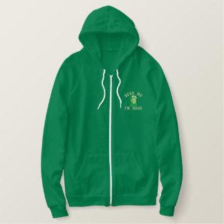 Beer Me  I'm Irish Funny Ireland Embroidered Hoodie