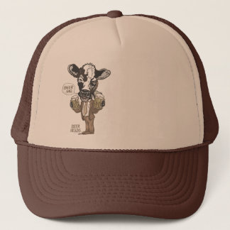 Beer Me Moo Cow by Mudge Studios Trucker Hat
