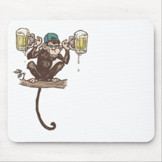 Beer Monkey by Mudge Studios Mouse Pad