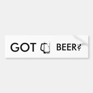 Beer Mug Bumper Sticker