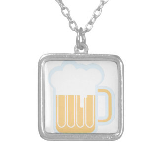 Beer Mug Silver Plated Necklace