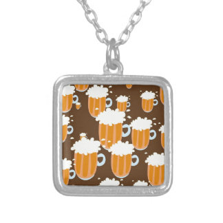 Beer Mugs Silver Plated Necklace
