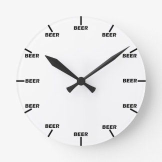 """Beer O' Clock"" Round Clock"