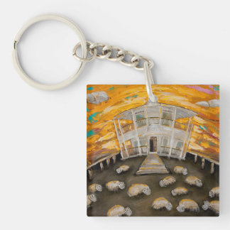 Beer O'Clock Key Ring