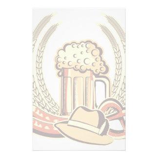 Beer Oktoberfest Graphic Custom Stationery