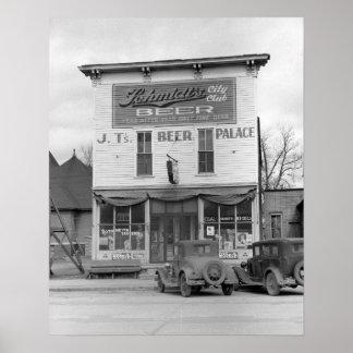 Beer Palace Tavern, 1940 Print