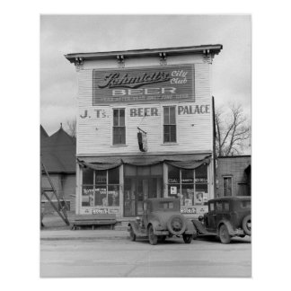 Beer Palace Tavern, 1940. Vintage Photo Poster