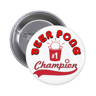 Beer Pong Award 6 Cm Round Badge