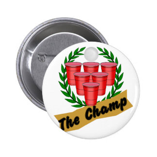 Beer Pong Champ 6 Cm Round Badge