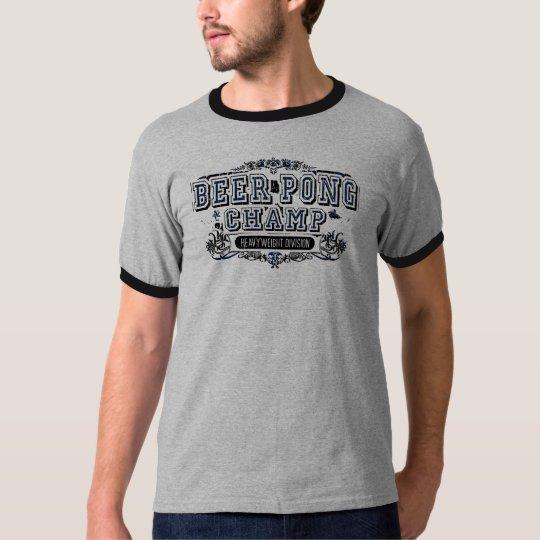 Beer Pong Champ Heavy Weight Division - Grey T-Shirt