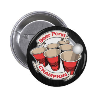 Beer Pong Champion Button