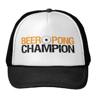 beer pong champion mesh hat
