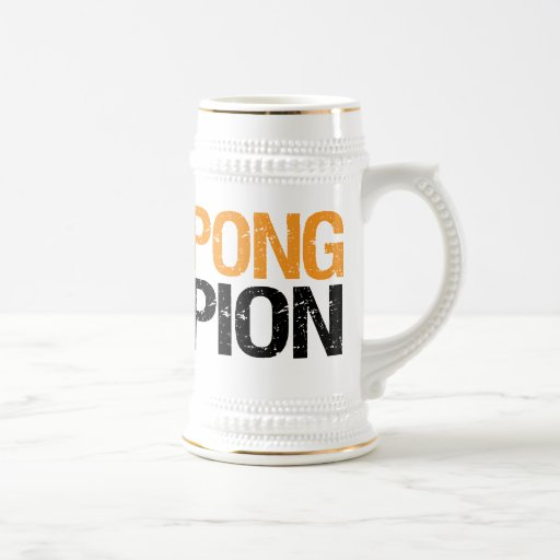 beer pong champion mugs