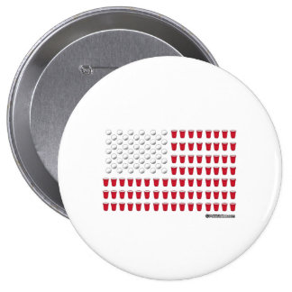 Beer Pong Flag 10 Cm Round Badge