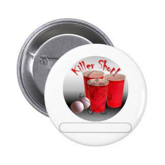 Beer Pong, Killer Shot personalize it Pins
