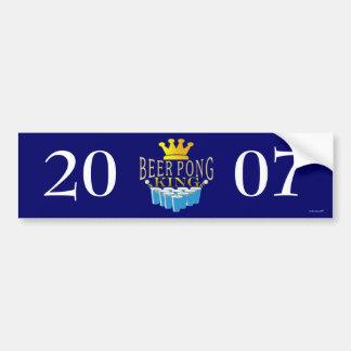 Beer Pong King Car Bumper Sticker