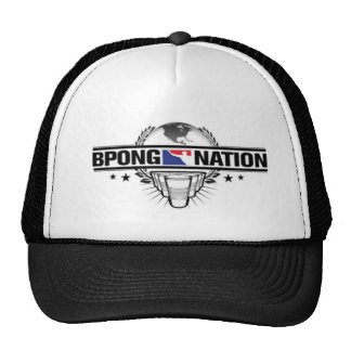 beer pong nation mesh hat