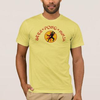 Beer Pong Ninja Shirt small logo