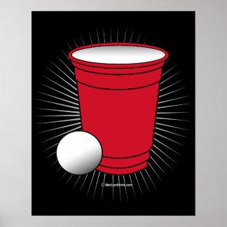 Beer Pong Pocket Poster