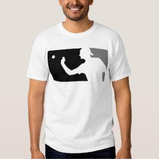 Beer Pong Shirt in Grey & Black