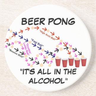 Beer Pong Slogan Coasters