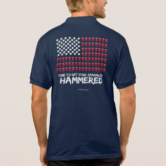 Beer Pong -Time to get star-spangled hammered Polo T-shirts