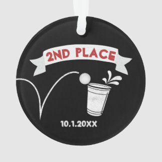 Beer Pong Tournament 2ND PLACE | Chalk Typography Ornament