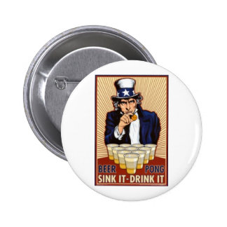 BEER PONG UNCLE SAM BUTTON
