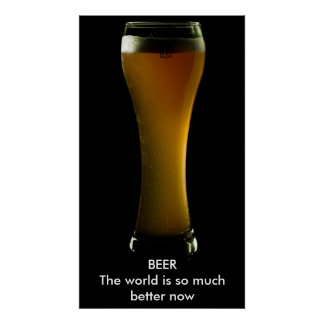 Beer poster with text