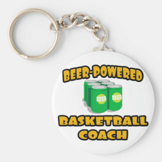 Beer-Powered Basketball Coach Key Chains