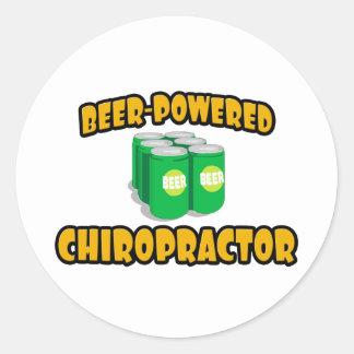 Beer-Powered Chiropractor Round Sticker