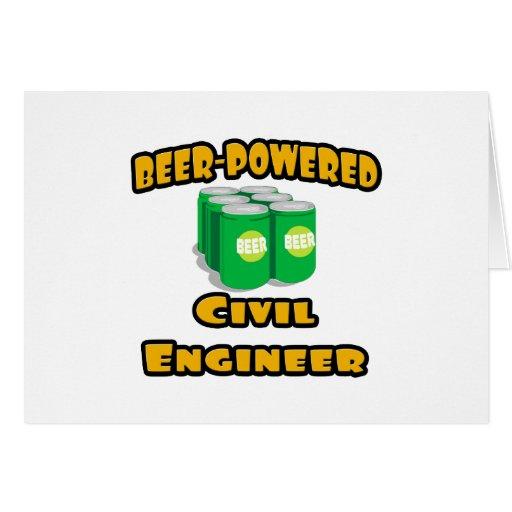 Beer-Powered Civil Engineer Greeting Cards