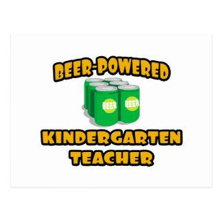 Beer-Powered Kindergarten Teacher Postcard