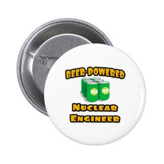 Beer-Powered Nuclear Engineer Pin