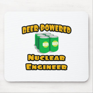 Beer-Powered Nuclear Engineer Mouse Pads