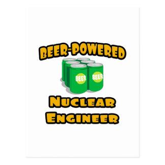 Beer-Powered Nuclear Engineer Postcard