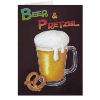 Beer & Pretzel Card