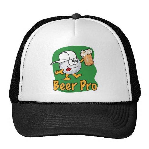 Beer Pro Cartoon Golf Ball Hats