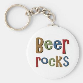 Beer Rocks Basic Round Button Key Ring