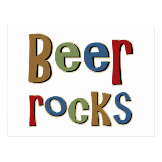 Beer Rocks Postcard