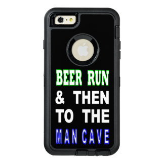 Beer Run & Then To The Man Cave OtterBox Defender iPhone Case