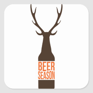 Beer Season Square Sticker