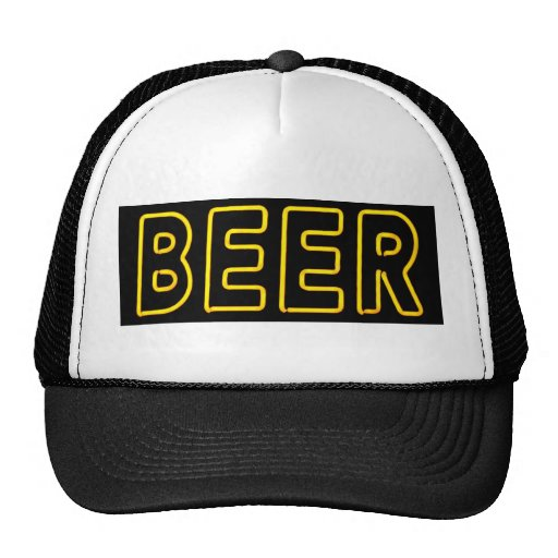 Beer Sign in Neon Mesh Hats