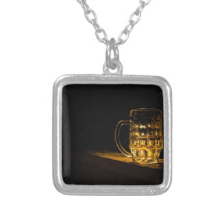 Beer... Silver Plated Necklace