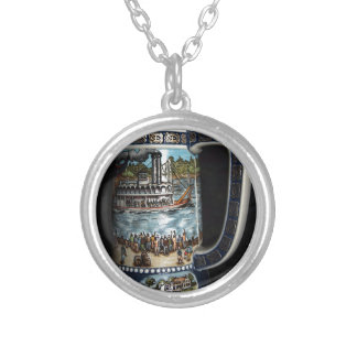 Beer Stein, decorative Silver Plated Necklace