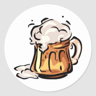 Beer Stein for Octoberfest Classic Round Sticker