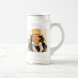 Beer Stein with The Man in the Straw Hat