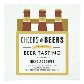 Beer Tasting Birthday Party Invitation