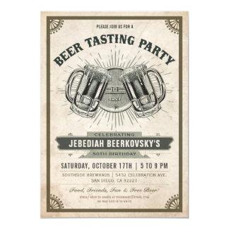 Beer Tasting Invitation   Vintage Retro