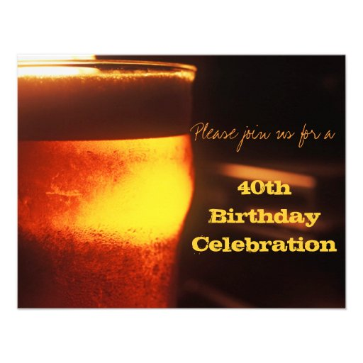 Beer Tasting or Birthday Party Invitation Custom Invitations